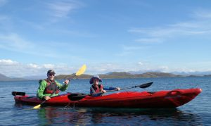 Kayaking at the Summer Isles